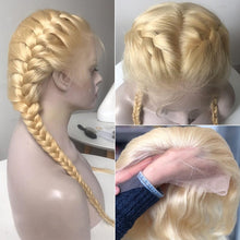 Load image into Gallery viewer, 28 30 Inch Straight 13x4 613 Blonde Lace Front Human Hair Wigs Remy Transparent Glueless Frontal Wig Pre Plucked Baby Hair