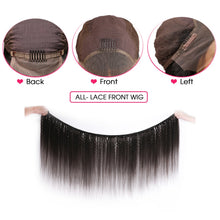 Load image into Gallery viewer, Kinky Straight Wig 13x4 Lace Front Human Hair Wigs For Women Pre Plucked With Baby Hair Brazilian Remy Italian Yaki Human Wig