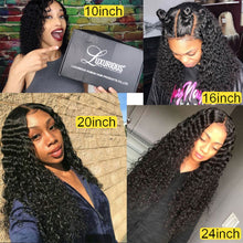 Load image into Gallery viewer, 150% Curly Human Hair Wig With Baby Hair Pre-Plucked Lace Front Human Hair Wigs For Women Brazilian Remy Hair Bleached Knots