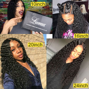 150% Curly Human Hair Wig With Baby Hair Pre-Plucked Lace Front Human Hair Wigs For Women Brazilian Remy Hair Bleached Knots