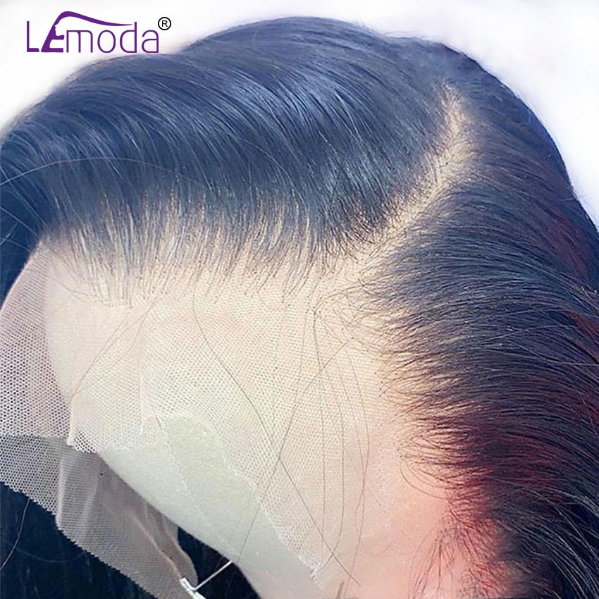 HD Transparent Lace Wigs 13x4 13x6 Lace Front Human Hair Wig Lemoda Remy 4x4 Closure Wig Brazilian Straight 360 Lace Frontal Wig