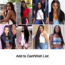 Load image into Gallery viewer, Straight Hair Bundles With Closure Brazilian Hair Weave Bundles With Closure Jet Back Human Hair Bundles With Closure Remy Hair