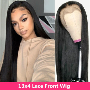 Gabrielle 30 inch lace front wigs straight human hair lace wigs Peruvian 360 lace frontal wigs for black women remy closure wig
