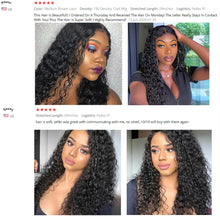 Load image into Gallery viewer, Remy Peruvian Water Wave 13x4 Lace Front Human Hair Wigs For Women 360 Lace Frontal Wig Cranberry Hair 4X4 Lace Closure Wig