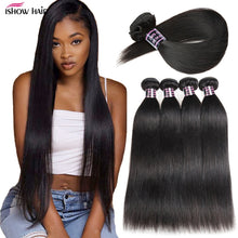 Load image into Gallery viewer, Ishow Brazilian Straight Hair Bundles Long Human Hair Bundles 30 32 24 36 38inch Brazilian Hair Weave Bundles Virgin Hair Weave