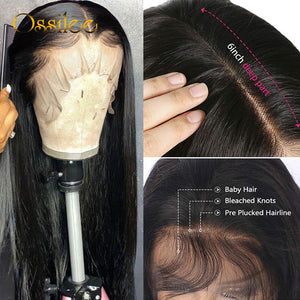13x4/13x6 Straight Lace Front Human Hair Wigs 360 Lace Frontal Wigs Remy Brazilian Human Hair Lace Wigs for Women Full Ossilee