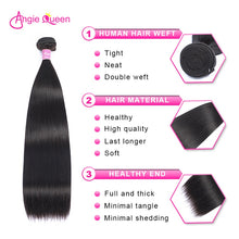 Load image into Gallery viewer, Straight Hair Bundles Brazilian Hair Weave Bundles 100% Human Hair Bundles Remy Hair Weave 1/3/4 Bundles Hair Extension Tissage