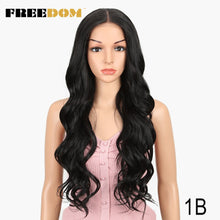 Load image into Gallery viewer, FREEDOM Free Parting  Easy 360 Lace Front Synthetic Wigs For Black Women Ombre Blond Red Color Ponytail  Supreme Hair cosplay