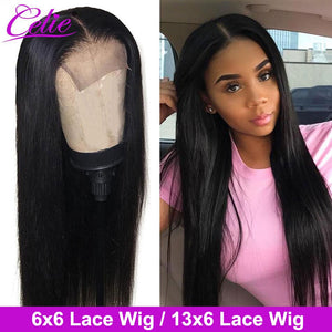 Celie Hair 6x6 Closure Wig Human Hair Wigs Straight Lace Front Human Hair Wigs For Black Women 13x6 Straight Lace Front Wig