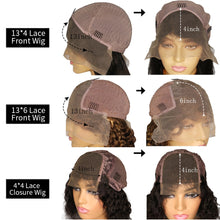 Load image into Gallery viewer, JRX 150 Density Remy Human Hair Wigs 13x6 Lace Front Wigs Curly Wigs With Bangs Baby Hair Pre Plucked Peruvian Fringe Wig