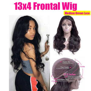 Cheap HD Transparent Lace Frontal Wigs Body Wave Wig 180 Density 26 Inch Wavy Lace Front Human Hair Wigs U PART Brazilian Wig