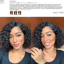 Load image into Gallery viewer, Kinky Curly Wig Deep Curly Lace Front Wig Afro KInky Curly Hair Short Curly Human Hair Wig 150% Density Human Hair Bob Wigs