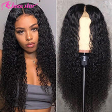 Load image into Gallery viewer, Brazilian Wig 4x4 Lace Closure Wig Kinky Curly Human Hair Wig Preplucked Human Hair Wigs for Black Women Non-Remy Jazz Star Hair