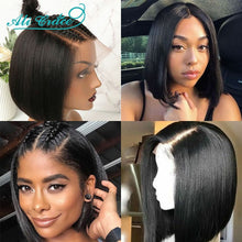 Load image into Gallery viewer, Ali Grace Bob Lace Front Wigs For Black Women Short Human Hair Bob Wigs Natural Hairline Brazilian Straight Lace Front Bob Wig