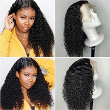 "Load image into Gallery viewer, Ably Pre plucked Curly Human Hair Wig Brazilian Remy 13x4 Lace Front Human Hair Wigs For Women 8""-26"" 150% Curly Lace Front Wig"