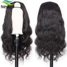 Load image into Gallery viewer, Free Shipping U Part Wig Human Hair 180 Density Glueless Human Hair Wigs 10A Brazilian Virgin Hair Body Wave Can Be Permed & Dye