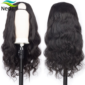 Free Shipping U Part Wig Human Hair 180 Density Glueless Human Hair Wigs 10A Brazilian Virgin Hair Body Wave Can Be Permed & Dye