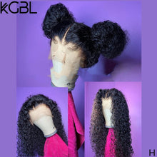 Load image into Gallery viewer, KGBL 360 Curly Natural Color Frontal Wigs For Women Brazilian Pre-Plucked Lace Front Human Hair Wigs Non-Remy Middle Ration 250%