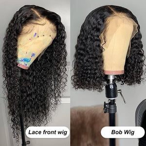 Deep Wave Wig Human Hair Wigs Curly Short Bob Brazilian For Black Women Hd Full Frontal Water Wave Wet And Wavy Lace Front Wig
