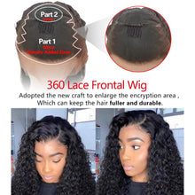 Load image into Gallery viewer, RXY HD Lace Frontal Wig Deep Curly Human Hair Wig 360 Transparent Lace Front Human Hair Wigs For Women Remy Lace Closure Wig