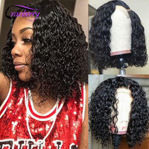 Cranberry Hair Malaysian Hair Water Wave Wig 13X4 Short Human Hair Wigs Remy Hair Lace Front Human Hair Wigs Bob Lace Front Wigs