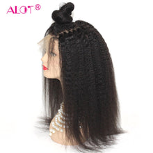 Load image into Gallery viewer, Kinky Straight Lace Front Wig Pre Plucked With Baby Hair 180% Lace Front Brazilian Human Hair Wigs For Black Women Remy Alot
