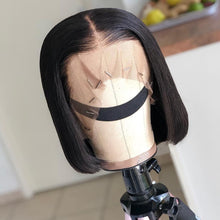 Load image into Gallery viewer, Links 13x4 Short Lace Front Human Hair Wigs 6- 16 Inch Brazilian Straight Bob Wig Pre Plucked With Baby Hair Frontal Wigs