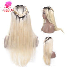 Load image into Gallery viewer, 13x6 1B 613 Blonde Ombre Color Brazilian Straight Wig Long Pre Plucked Glueless Full Lace Front Human Hair Wigs for Black Women