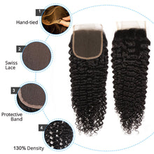 Load image into Gallery viewer, Malaysian Kinky Curly Bundles With Closure Curly Human Hair Bundles With Closure Styleicon 3 Bundles Curly Bundles With Closure