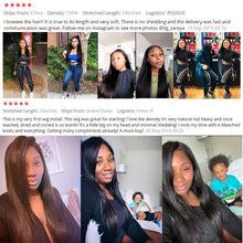 Load image into Gallery viewer, 13x6 x1 Straight Lace Front Human Hair Wigs 30 Inch Closure Wig Remy Brazilian Straight Bob Wig Transparent HD Lace Frontal Wig