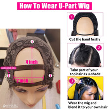 Load image into Gallery viewer, Cheap HD Transparent Lace Frontal Wigs Body Wave Wig 180 Density 26 Inch Wavy Lace Front Human Hair Wigs U PART Brazilian Wig