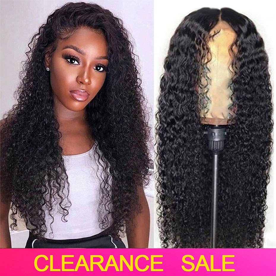 Ably Pre plucked Curly Human Hair Wig Brazilian Remy 13x4 Lace Front Human Hair Wigs For Women 8