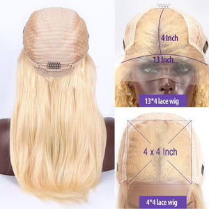 28 30 Inch Straight 13x4 613 Blonde Lace Front Human Hair Wigs Remy Transparent Glueless Frontal Wig Pre Plucked Baby Hair
