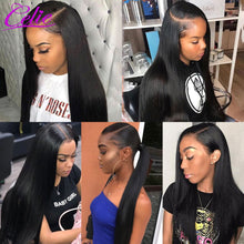 Load image into Gallery viewer, Celie Hair 6x6 Closure Wig Human Hair Wigs Straight Lace Front Human Hair Wigs For Black Women 13x6 Straight Lace Front Wig
