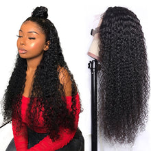 Load image into Gallery viewer, 30inch Curly Human Hair Wig Lace Front Wigs Brazilian Kinky Curly Closure Wig 13x4 Lace Human Hair Wigs Perruque Cheveux Humain