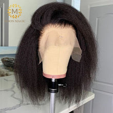 Load image into Gallery viewer, Kinky Straight Wig Bob Lace Front Wigs Short Bob Wig Full Lace Front Human Hair Wigs Preplucked Lace Wig 150% Density