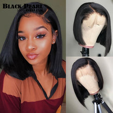 Load image into Gallery viewer, Black Pearl 13x4 Cut Bob Wig Short Lace Front Human Hair Wigs