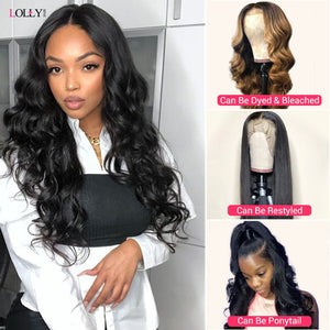 Loose Wave Wig Lace Front Human Hair Wigs Brazilian Human Hair Wigs Remy 360 Lace Frontal Wig Pre-Plucked Closure Wig for Women