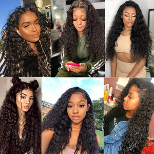 28 30 Inch HD Deep Wave Glueless Curly Lace Front Human Hair Wigs Water Wave Black Women Brazilian Virgin Remy Hair Wig Plucked