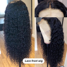 Load image into Gallery viewer, ALI BFF Transparent HD Lace Wig Water Wave Wig Lace Front Human Hair full lace Wigs Pre Plucked Bleached Knots Lace Wig remy Wig