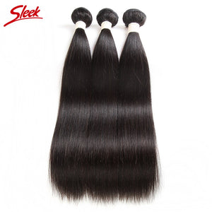 Sleek Peruvian Straight Hair Weave Bundles 8 To 30 Inches Natural Color Hair Extension Remy Human Hair Bundles Free Shipping