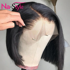 Pixie Cut Wig Bob Lace Front Human Hair Wigs PrePlucked 6x6 Closure Wig 13x4 Straight Bob Short Human Hair Wigs 130 Remy