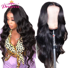 Load image into Gallery viewer, HD Transparent Lace Front Human Hair Wigs PrePlucked 8-34 Brazilian Body Wave Lace Frontal Wig With Baby Hair Remy Princess Hair