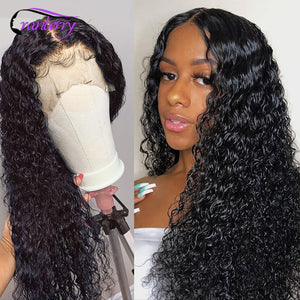Remy Peruvian Water Wave 13x4 Lace Front Human Hair Wigs For Women 360 Lace Frontal Wig Cranberry Hair 4X4 Lace Closure Wig