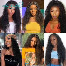 Load image into Gallery viewer, Ali Grace Wigs Brazilian Deep Curly Lace Front Wig Pre Plucked 360 Lace Frontal Wigs Remy Hair Kinky Curly Human Hair Wigs