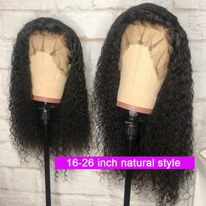 "Ably Pre plucked Curly Human Hair Wig Brazilian Remy 13x4 Lace Front Human Hair Wigs For Women 8""-26"" 150% Curly Lace Front Wig"