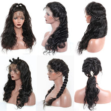 Load image into Gallery viewer, 13x6 Lace Front Human Hair Wigs For Women 250 Density Body Wave 360 Lace Frontal Wig Fake Scalp Bob 370 Closure Full 30 Inch Wig