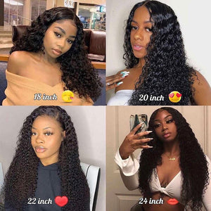 Glueless 360 Lace Frontal Wig Curly Full Lace Front Human Hair Wigs Pre Plucked With Baby Hair For Black Women Remy Water Wig