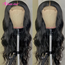 Load image into Gallery viewer, Brazilian Body Wave Wig 4x4 Lace Closure Wig Human Hair Wigs Pre-Plucked with Baby Hair Non-Remy Jazz Star Hair 150% Density