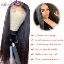 Load image into Gallery viewer, Human Hair Wigs For Black Women Wigs Human Hair Straight 4x4 Closure Wig Human Hair Lace Wigs Lace Closure Wig Remy Hair Wigs150